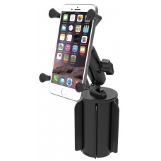 RAM-A-CAN II Universal Cup Holder Mount X-Grip Large Phone/Phablet Holder